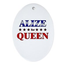 ALIZE for queen Oval Ornament