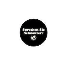 """""""Sprechen Sie Schnauzer"""" Mini Button (10 pack)"""
