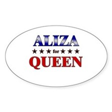 ALIZA for queen Oval Decal