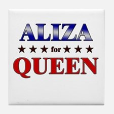 ALIZA for queen Tile Coaster