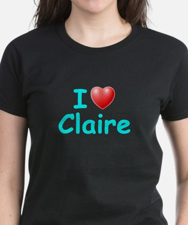 I Love Claire (Lt Blue) Tee