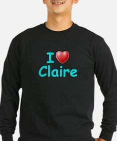I Love Claire (Lt Blue) T