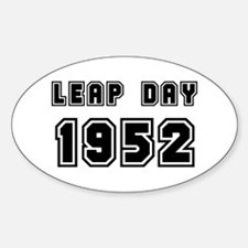 LEAP DAY 1952 Oval Decal