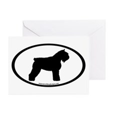 Bouvier Oval Greeting Cards (Pk of 20)