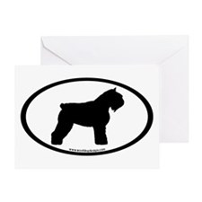 Bouvier Oval Greeting Card