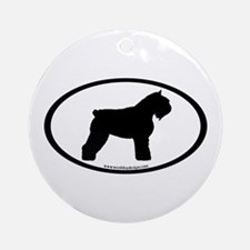 Bouvier Oval Ornament (Round)
