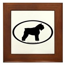 Bouvier Oval Framed Tile