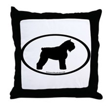 Bouvier Oval Throw Pillow