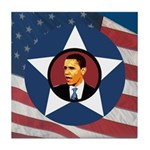 Barack Obama Patriotic Tile Coaster