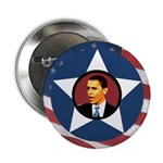 Barack Obama Flag Star Campaign Button