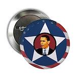 Ten Patriotic Star Barack Obama Buttons