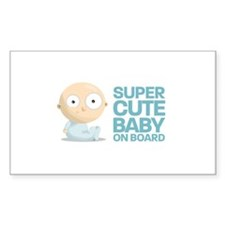 Super Cute Baby Rectangle Decal