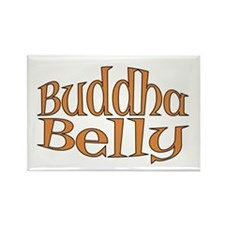 Buddha Belly Pregnant Rectangle Magnet