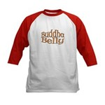 Buddha Belly Pregnant Kids Baseball Jersey