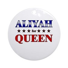 ALIYAH for queen Ornament (Round)