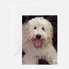 Golden Doodle Painting Greeting Card