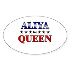 ALIYA for queen Oval Decal