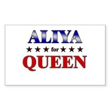 ALIYA for queen Rectangle Decal