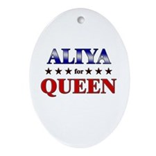 ALIYA for queen Oval Ornament