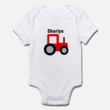 Sherlyn - Red Tractor Infant Bodysuit
