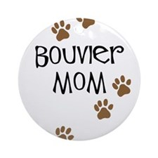 Bouvier Mom Ornament (Round)