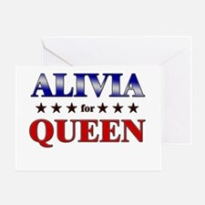 ALIVIA for queen Greeting Card