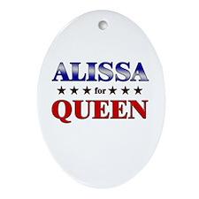 ALISSA for queen Oval Ornament