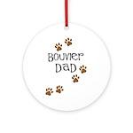 Bouvier Dad Ornament (Round)