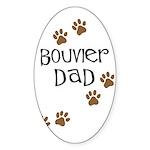 Bouvier Dad Oval Sticker