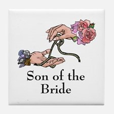Handfasting Son of the Bride Tile Coaster