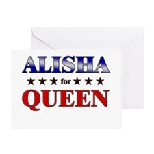 ALISHA for queen Greeting Card