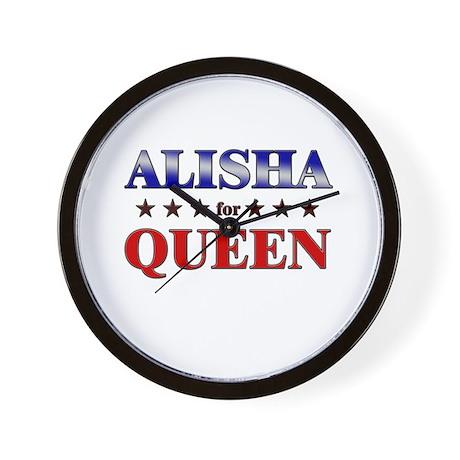 ALISHA for queen Wall Clock