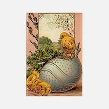 Vintage Easter Chicks Postcard Design Rectangle Ma