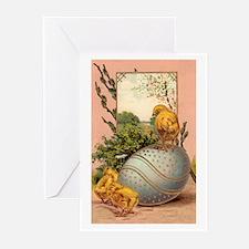 Vintage Easter Chicks Postcard Design Greeting Car