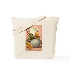 Vintage Easter Chicks Postcard Design Tote Bag