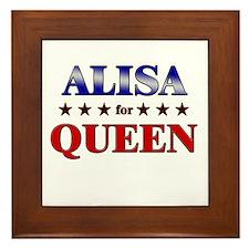 ALISA for queen Framed Tile