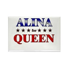ALINA for queen Rectangle Magnet