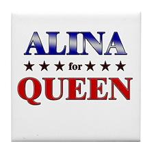 ALINA for queen Tile Coaster