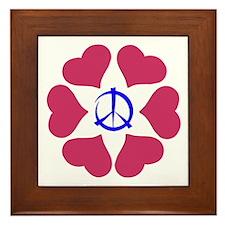 Imagine Peace & Love Framed Tile