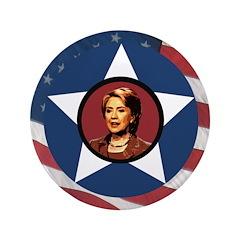 Extra Large Patriotic Hillary Clinton 3.5