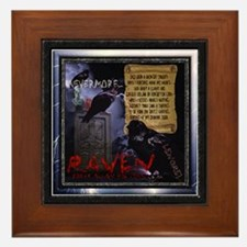 Edgar Allan Poe's The Raven - Framed Tile