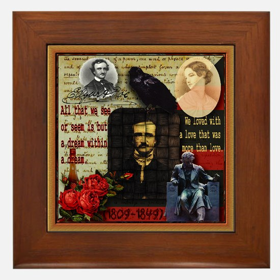 Edgar Allan Poe - Framed Tile