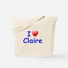 I Love Claire (Blue) Tote Bag