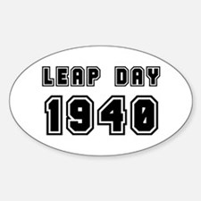 LEAP DAY 1940 Oval Decal