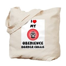 Obedience Border Collie Tote Bag