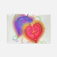 Hearts of Fire Rectangle Magnet