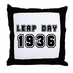 LEAP DAY 1936 Throw Pillow