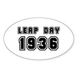 LEAP DAY 1936 Oval Sticker