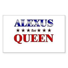 ALEXUS for queen Rectangle Decal