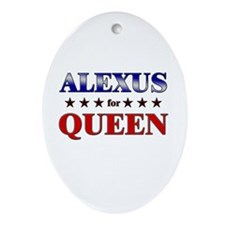 ALEXUS for queen Oval Ornament